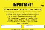 Pack of Compartment Ventilation Labels